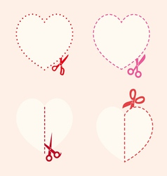 set of cutting scissors Love vector image vector image