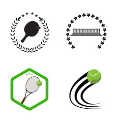 set of tennis and ping pong vector image