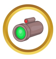 Sniper rifle telescope icon vector