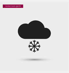 snowy weather icon cloud simple winter sign vector image