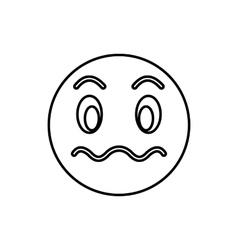 Suspicious emoticon icon outline style vector