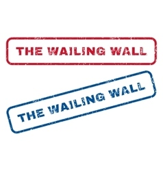 The Wailing Wall Rubber Stamps vector image vector image