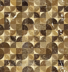 Vintage tattered seamless pattern overlapping vector