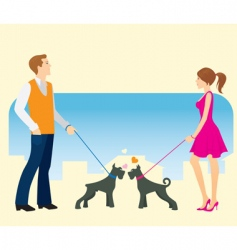 Walking the dog vector