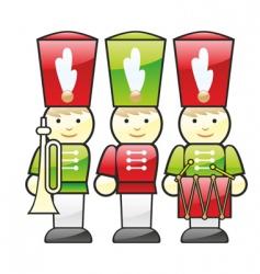wooden soldiers vector image
