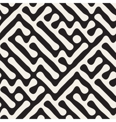 Seamless freehand geometric rounded maze vector