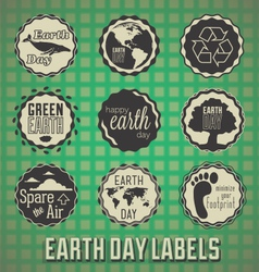 Happy earth day labels vector