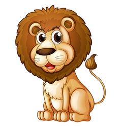 A fat lion vector image