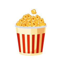 Bucket of popcorn for cinema street fast food vector