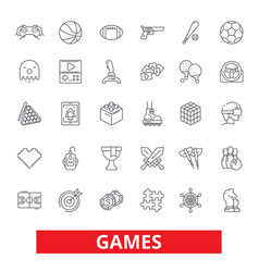 Video games sports hobby passion console play vector