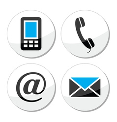 Contact web and internet icons set vector