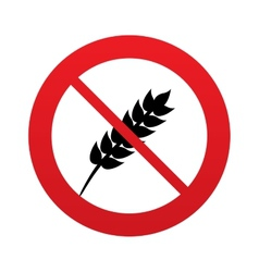 No gluten free sign icon no gluten symbol vector