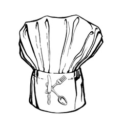 Chefs hat with the letter k vector