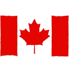 Painted canadian flag vector