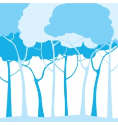 blue trees vector image