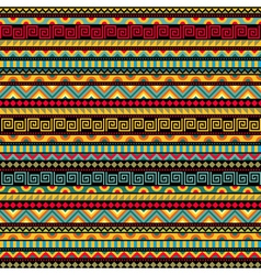 Abstract seamless ethnic pattern vector