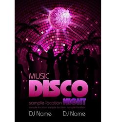 Disco background Disco poste vector image