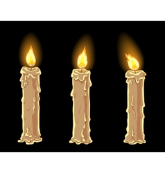 Candles set vector