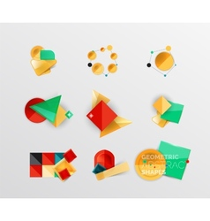 Set of abstract geometric shape icons vector