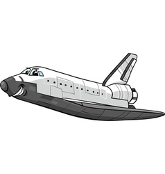 Space shuttle cartoon vector