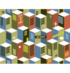 Seamless pattern with city buildings vector