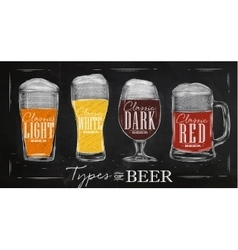 Poster types beer vector