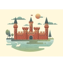 Castle design flat vector