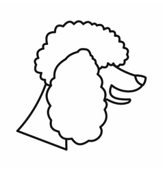 Poodle dog icon outline style vector