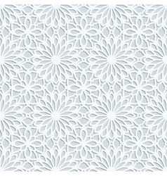 Light grey geometric 3d seamless pattern vector