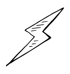 Simple hand drawn doodle of a lightning bolt vector
