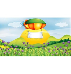 A blimp with a white banner vector image