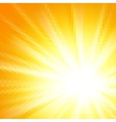 Abstract hexagon sun background vector image vector image