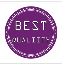 Best quality icon badge label or sticke vector