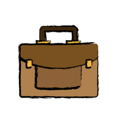 Business briefcase portfolio accessory icon vector