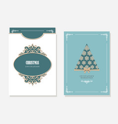 Christmas party invitation and envelope template vector