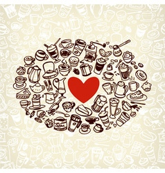 Coffee doodle vector