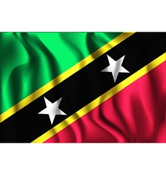 Flag of saint kitts and nevis rectangular shaped vector