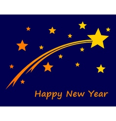 Happy new year on blue sky vector