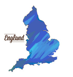 Isolated england map vector