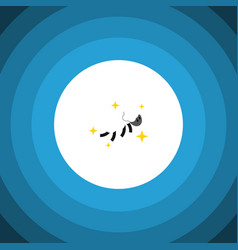 Isolated nighttime flat icon night elemen vector