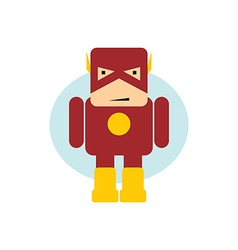 Little superhero flat cartoon vector