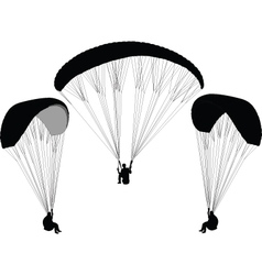 paragliding - vector image