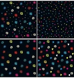 Seamless Flower Daisy Pattern vector image