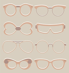 set of cute glasses vector image vector image