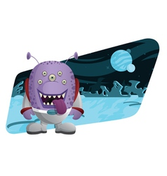 space monster vector image