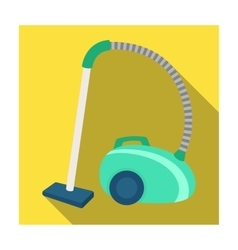 Vacuum cleaner icon in flat style isolated on vector