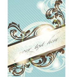 vintage french retro banner vector image