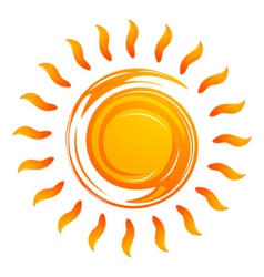 warming sun vector image