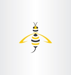 wasp stylised icon logo vector image vector image