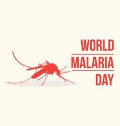 World malaria day concept vector